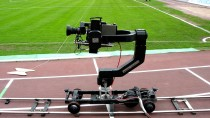 Remotely operated camera dolly SpiderCAM