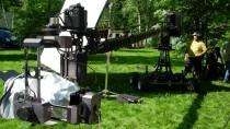 Section camera cranes